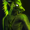 38c623 green cyber wolf
