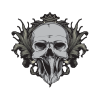 Afeac9 satan drawing skull 2