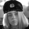 F4b3cd billie eilish b&w ushanka hat