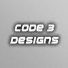 8e8b4d code three designs logo