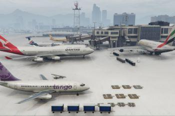 176fb6 gta v   air canada tango 737 200 at lsia in the snow 1