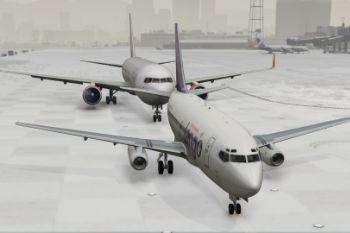 176fb6 gta v   air canada tango 737 200 at lsia in the snow 2