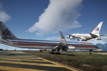 64cc5d boeing 757 300 american airlines with 747sp