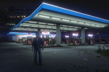 54b106 exxon gas station night2