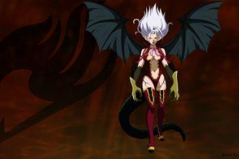 8b9a71 mirajane strauss satan soul sitri girl wings anime hd