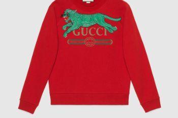 0a7b49 527743 x9x95 6527 001 100 0000 light gucci logo sweatshirt with tiger