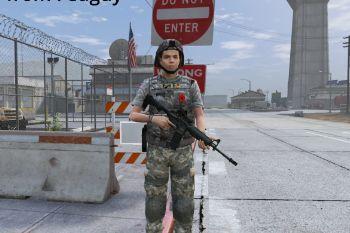 6e3a9e female soldier
