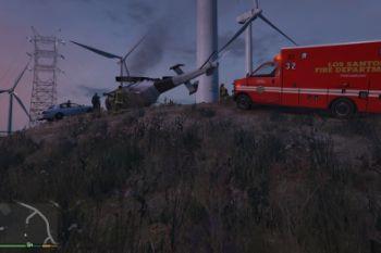Eb990a windturbine crash