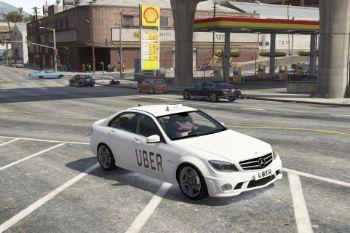 Lyft Uber 2009 Mercedes Benz C63 Taxi Gta5 Mods Com