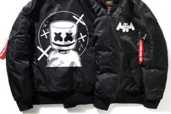 A85441 dj marshmello winter bomber jacket for men zip quilted plus size winter clothing175197