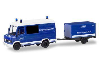 C8737d h0 auto mercedes t2 mit kofferanhaenger thw bergungstaucher herpa 093736 b 0