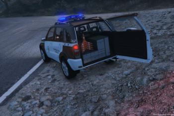 toyota rav4 guardia civil tráfico gta5 mods.com
