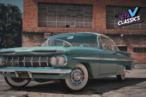1959 Chevrolet Impala mini Pack [Add-On | LODs | Template | Extras]