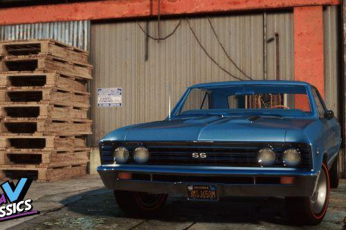 1967 Chevrolet Chevelle Super Sport 396 [Add-On | LODs | Template]