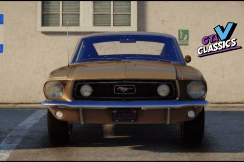 1968 Ford Mustang GT 390 Fastback [Add-On | Extras | Tuning | LODs | Template]