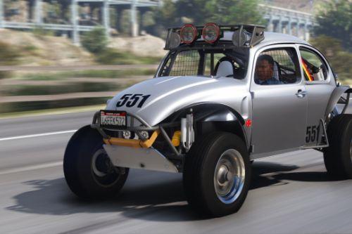 1969 Volkswagen Class 5 /1600 Baja Bug [Add-On | Template | LODs | Extras | (rendering) | Animated Engine]