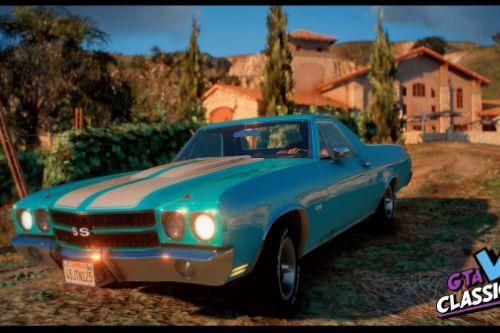 1970 Chevrolet El Camino SS [Add-On | LODs]