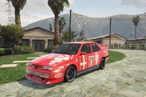1992 Alfa Romeo 155 Q4 Dekra Livery