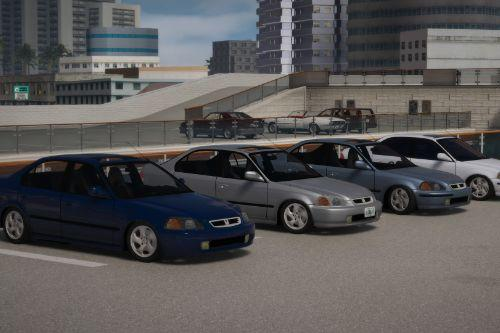 1996-2000 Honda Civic 4dr Us spec [Add-On | LODs]