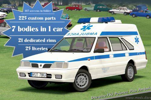 1999 Daewoo-FSO Polonez Plus Ambulance [Add-On | Tuning | Animated]