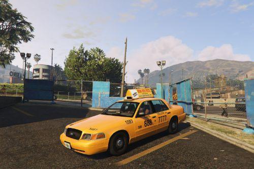 1999 Ford Crown Victoria MIAMI SUPER Yellow Taxi Skin