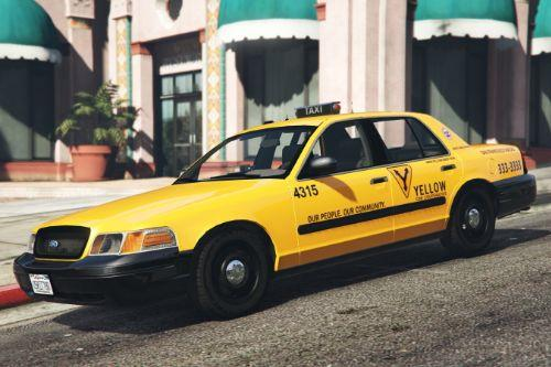 "1999 Ford Crown Victoria Taxi ""San Francisco Taxi"" Paintjob"