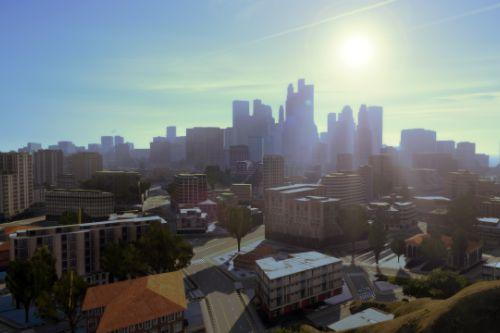 1st Esri CityEngine procedural city in GTAV