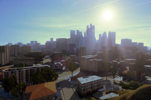 1st Esri CityEngine procedural city in GTAV