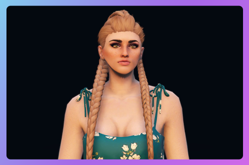 2-braids long hairstyle for MP Female