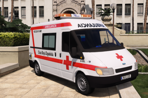 2003 Ford Transit Ambulancia Cruz Roja Española Spain Red Cross ems ambulance [Replace-Liveries]