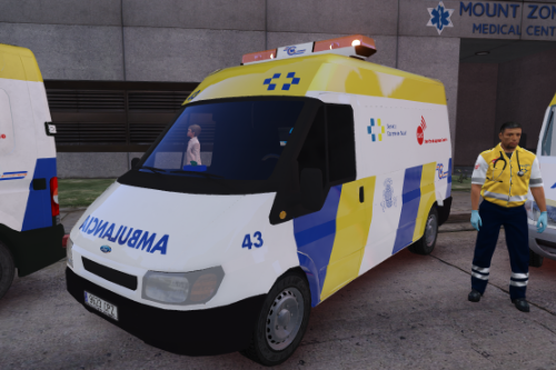 2003 Ford Transit Ambulancia Servicio Urgencias Canario antigua rotulacion + uniformes SUC Spain ems ambulance [ELS Replace-Liveries]
