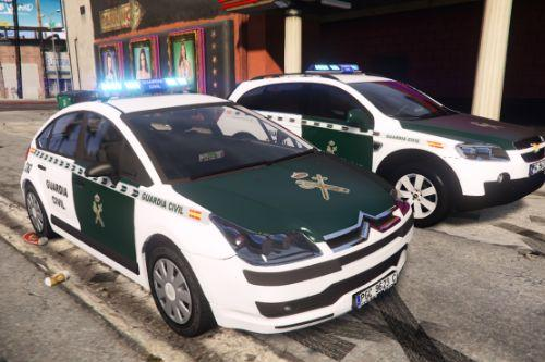 2004 Citroen C4 Guardia Civil Seguridad Ciudadana [ELS/Replace] (spain police car Citroën C4)