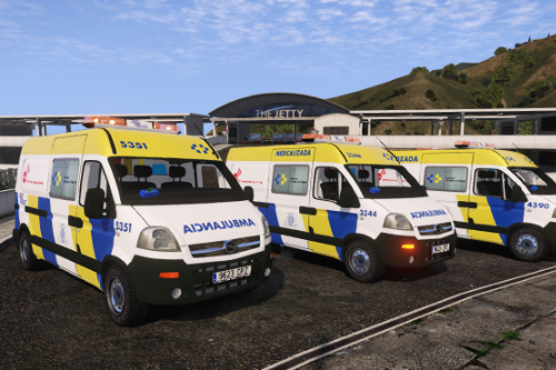 2004 Opel Movano Ambulancia Servicio Urgencias Canario antigua rotulacion + uniformes SUC Spain ems ambulance [Replace/semi-els/Liveries]