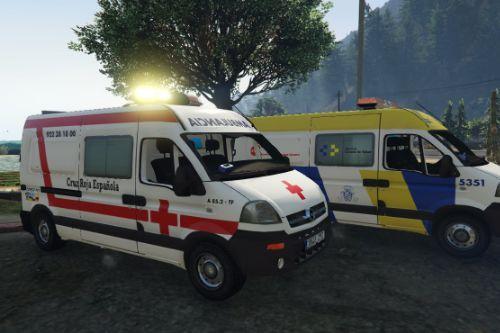 2004 Opel Movano Cruz Roja Española (Spain ems Ambulance) [ELS/Replace]