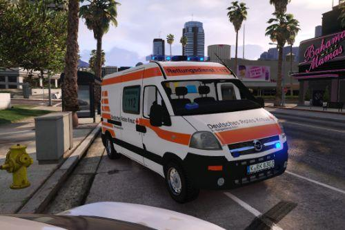 2004 Opel Movano Deutsches Rotes Kreuz Ambulance [Replace-FiveM-Liveries-4K]