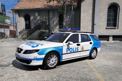 "2004 Saab 9-5 Swedish Police ""Paintjob"""