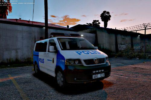 "2004 Volkswagen T5 Swedish Police ""Paintjob"""