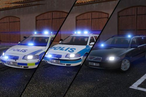 2005 & 2001 Volvo V70 Swedish Police Pack | ELS