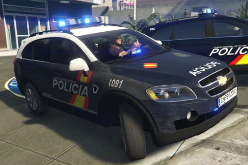 2006 Chevrolet Captiva LS C100 Cuerpo Nacional de Policia CNP + UIP [Replace/2 liveries/ELS/Dirt Map]