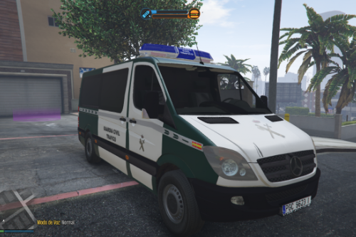 2006 Mercedes Sprinter 211 CDI Guardia Civil Trafico Spanish Traffic Police [ELS-Replace]