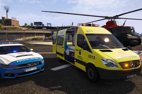 Ambulancia SUC Servicio de Urgencias Canario 2006 Mercedes Sprinter + uniformes SUC