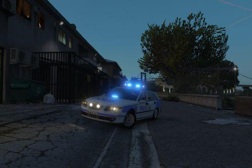 "2005 Saab 9-5 Swedish Police ""Paintjob"""
