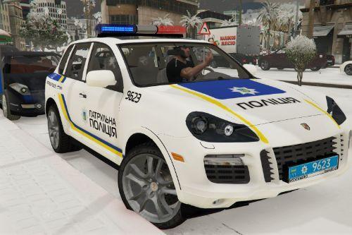 🇺🇦 Патрульна Національної Поліція України 2007 Porsche Cayenne Turbo S [957] (Ukraine Patrol Police) [Replace]