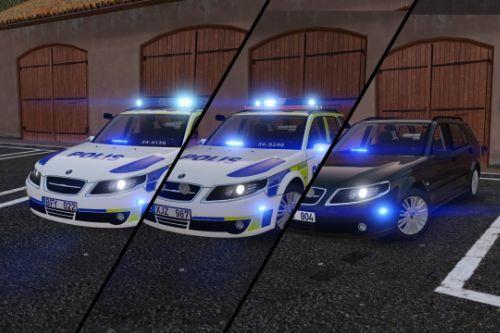 2009 & 2006 Saab 9-5 Swedish Police Pack | ELS