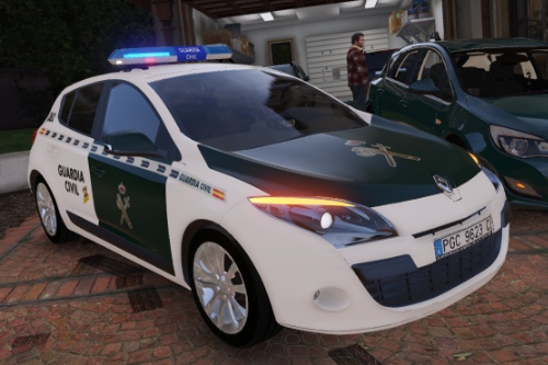 2009 Renault Megane Guardia Civil seguridad ciudadana [Replace/ELS]