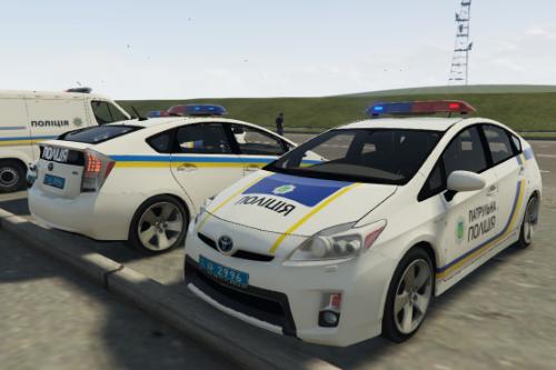2009 Toyota Prius Українська поліція ( Ukraine Police / Policia Ucrania / Поліція України ) [Replace-4 Liveries]