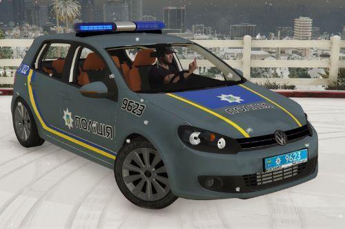 🇺🇦 Патрульна Національної Поліція України 2009 Volkswagen Golf VI (Patrol Police ukraine)