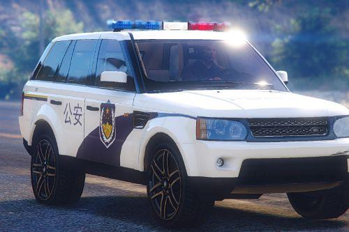 2010 Range Rover Sport Chinese Police [Template]