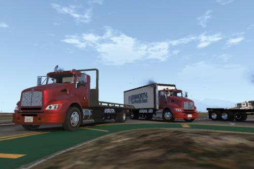 2012 Kenworth T440 Box / Flatbed Truck [Template]