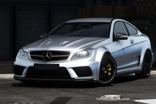 2012 Mercedes-Benz C63 AMG Coupe Black Series [Add-On | Tuning | LODs | Extras | Template]